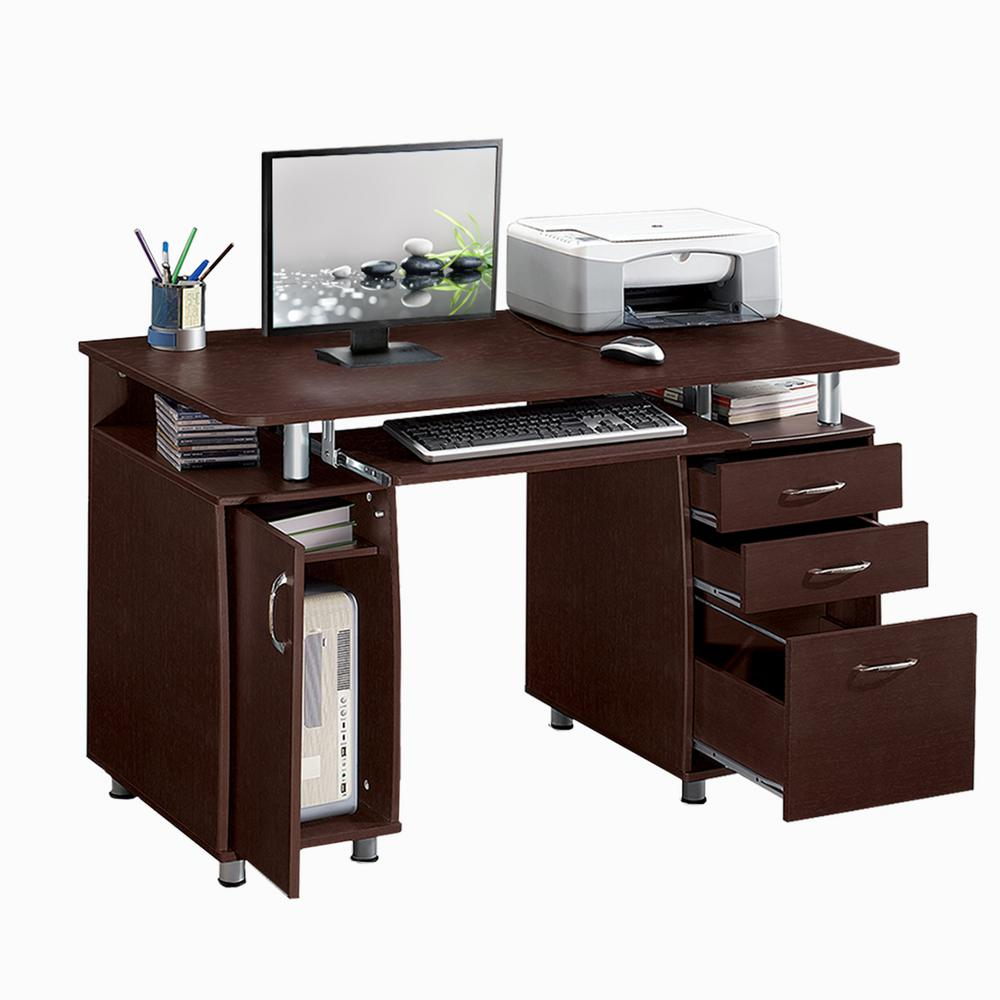 Computer Desk Storage Drawer Heavy Duty Durable Wood Frame