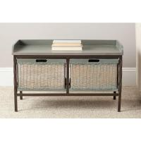 Safavieh Nah French Grey Storage Bench-AMH6528B - The Home ...