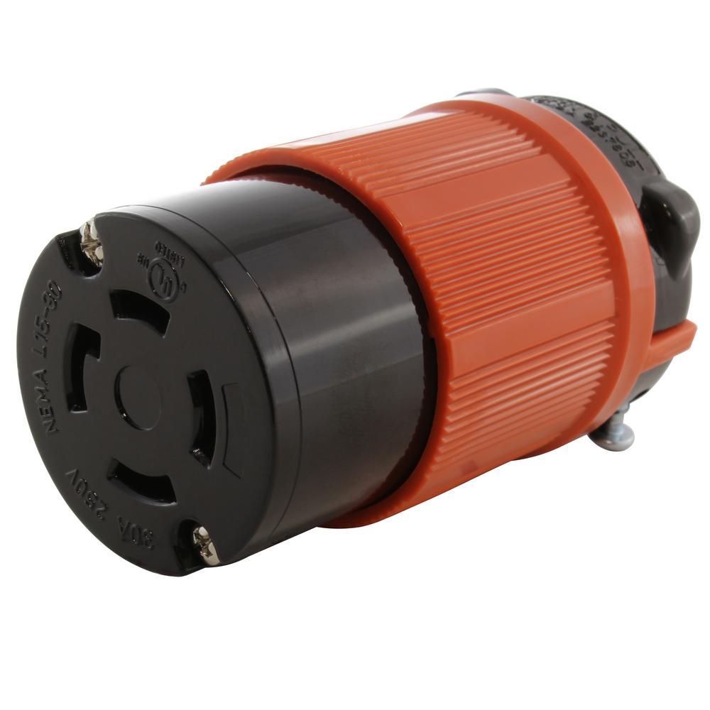 medium resolution of ac works 30 amp 250 volt 3 phase nema l15 30r 4 prong industrial wiring nema l5 vs l6 receptacle nema l15 30 plug 3 wire plug
