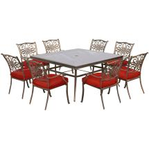 Hanover Traditions 9-piece Aluminum Outdoor Dining Set