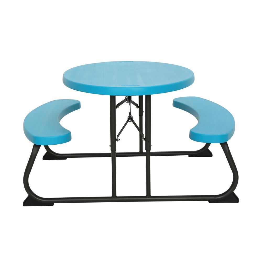 Childrens Folding Table And Chairs Lifetime Glacier Blue Kids Folding Picnic Table