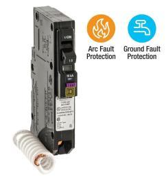 qo 15 amp single pole dual function cafci and gfci circuit breaker [ 1000 x 1000 Pixel ]