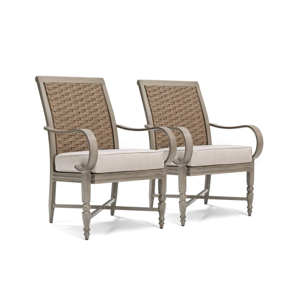 BLUE OAK Saylor Wicker Outdoor Dining Arm Chair with