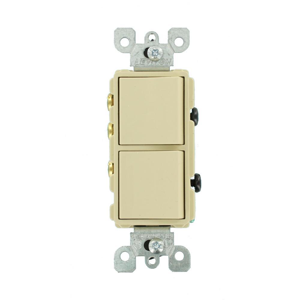 medium resolution of leviton 15 amp decora commercial grade combination single pole rocker switch 3 way rocker