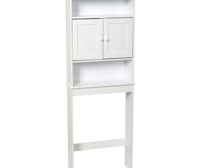 Zenna Home  In W X  In H X  In D 3 Shelf Over The Toilet Storage Cabinet In White E9119w The Home Depot