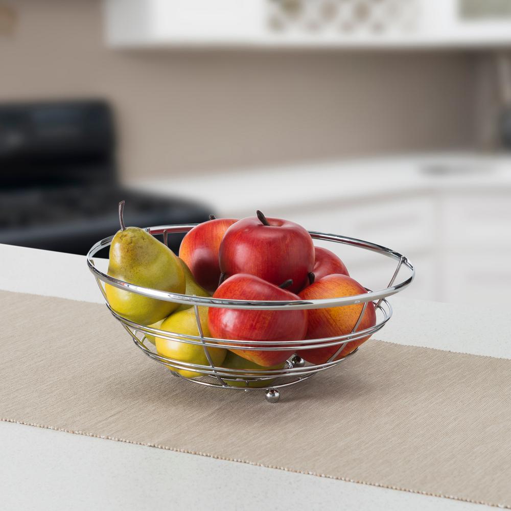 kitchen fruit basket storage organizers gray baskets countertop the home depot flat wire bowl