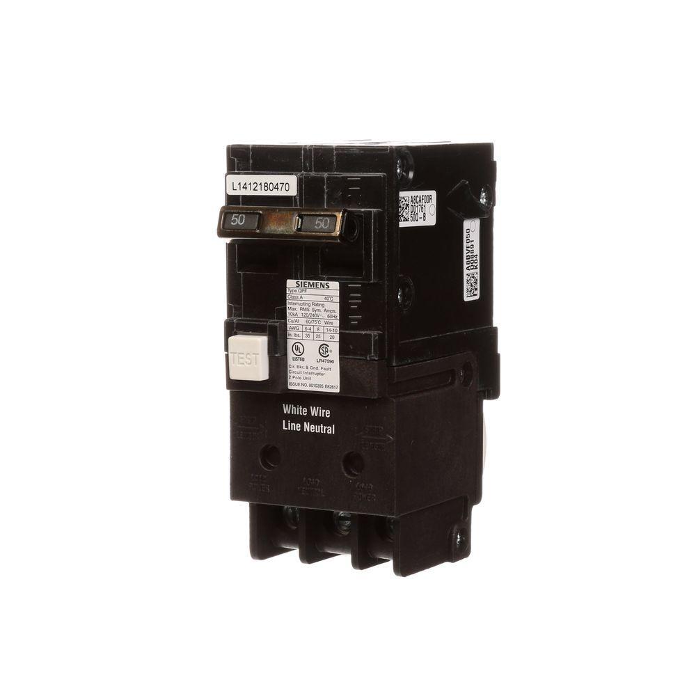 medium resolution of siemens 50 amp double pole type qpf gfci circuit breaker