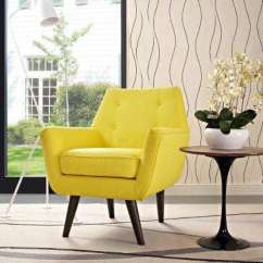 Accent Chair Yellow Portable Commode Chairs The Home Depot Posit Sunny Upholstered Armchair