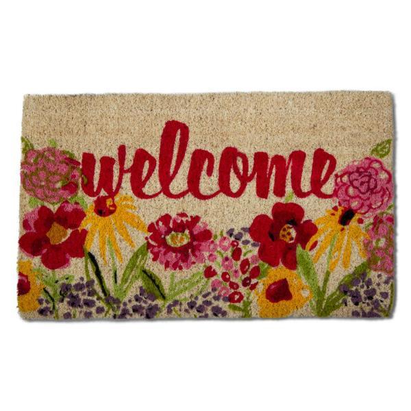 Tag Fresh Flowers Multicolor 18 In. X 30 Coir Door Mat