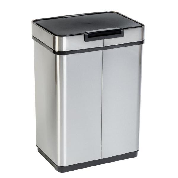 Honey- 13 Gal. Stainless Steel Touchless Sensor Trash -trs-08414 - Home Depot