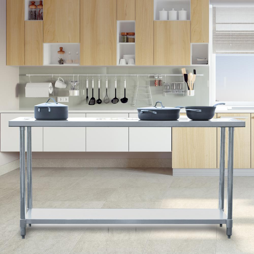stainless kitchen floor to ceiling cabinets sportsman steel utility table sswtable72 the