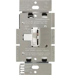 lutron toggler 600 watt 3 way magnetic low voltage dimmer white [ 1000 x 1000 Pixel ]