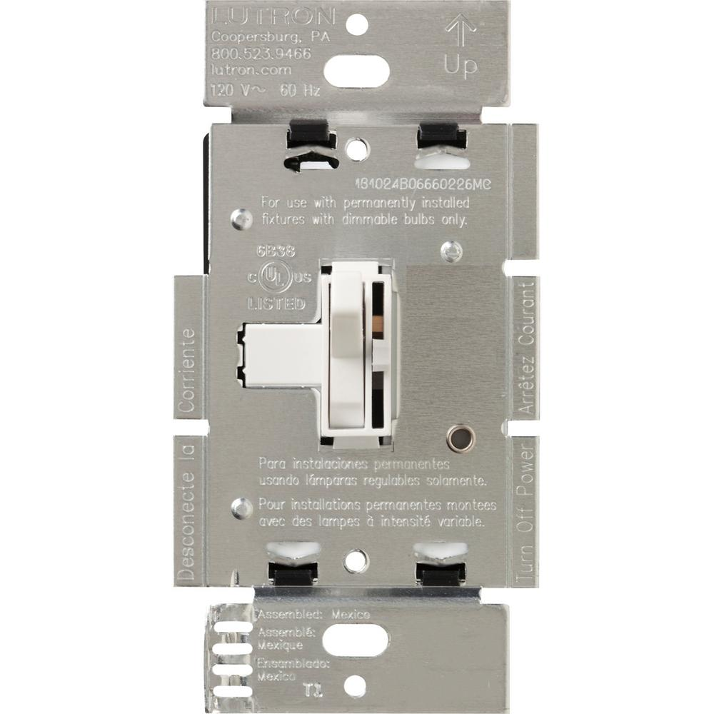 hight resolution of lutron toggler 600 watt 3 way magnetic low voltage dimmer white