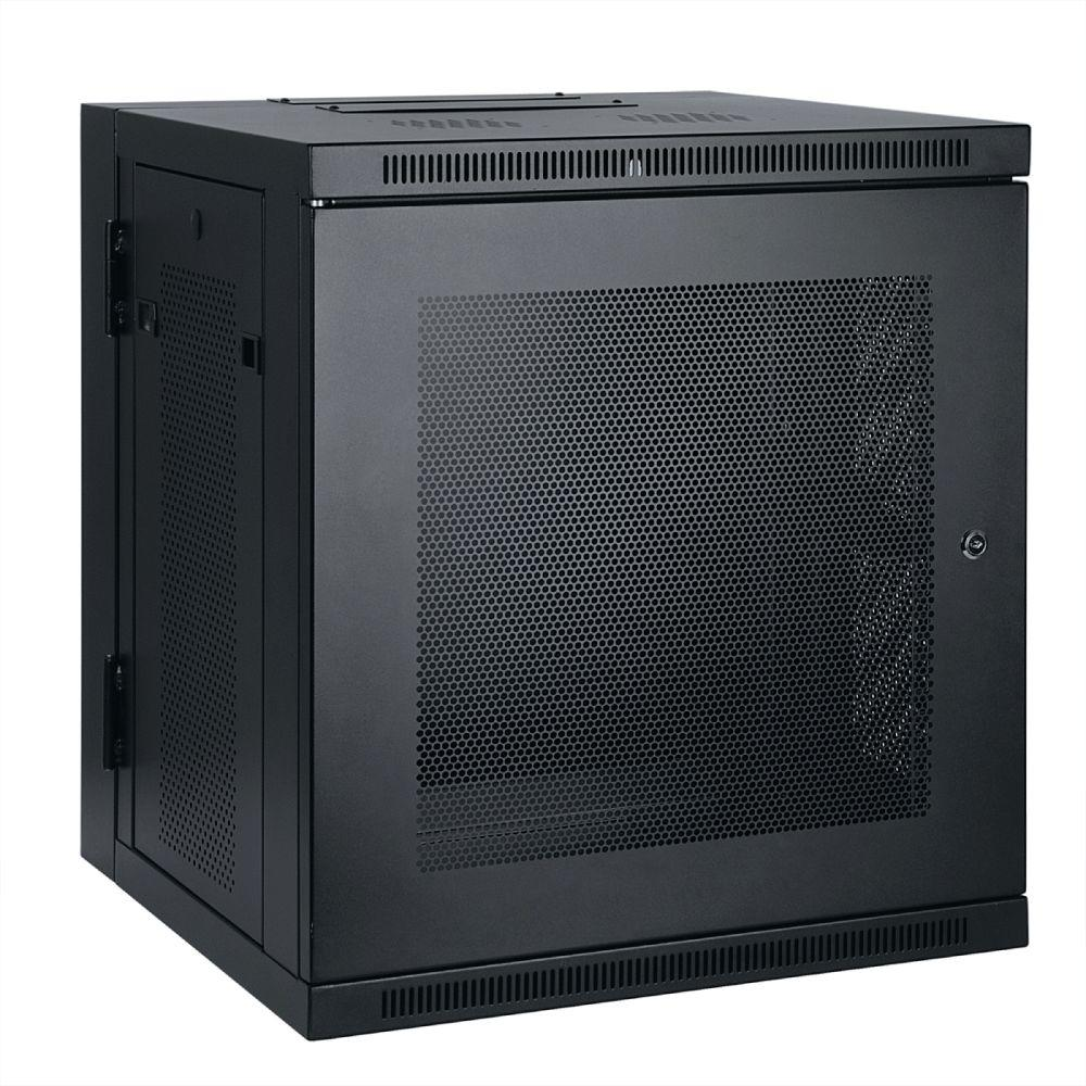 medium resolution of 10u wall mount rack enclosure cabinet hinged wallmount