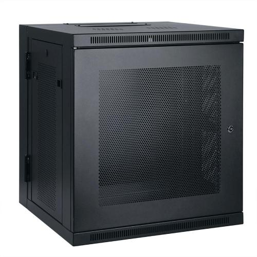 small resolution of 10u wall mount rack enclosure cabinet hinged wallmount