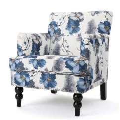 Colorful Accent Chair Swivel High Back Multi Colored Solid Wood Chairs The Home Depot Rayna Floral Print Fabric Club