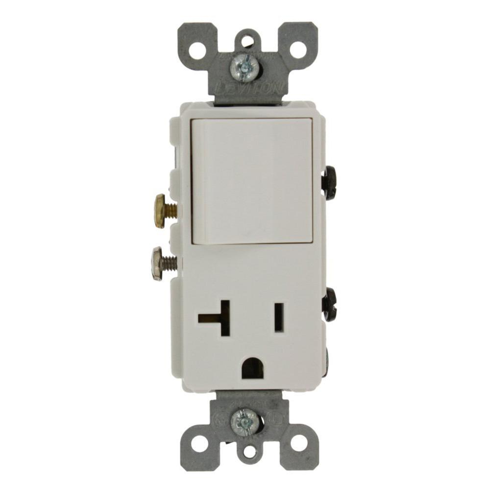 Wiring In The Home Single Pole Switch And Grounding Receptacle Combo