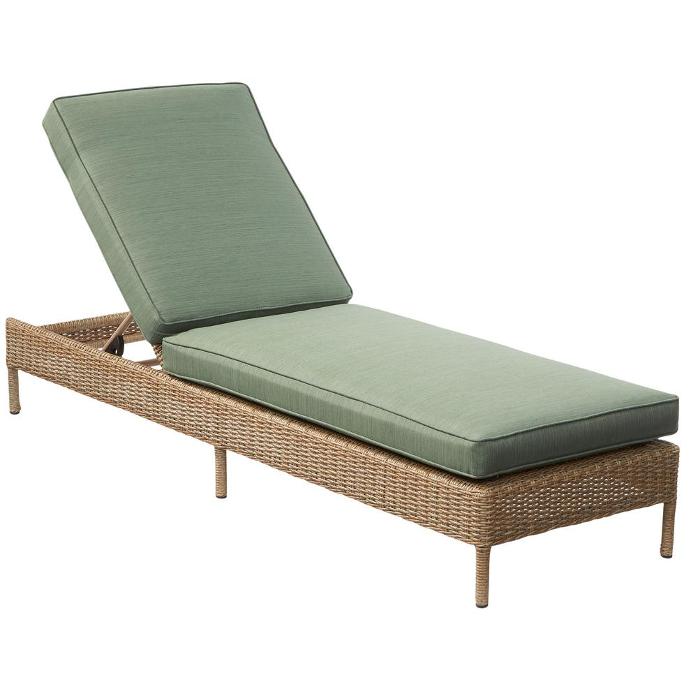 wicker chaise lounge chairs outdoor swing chair glass green lounges patio the home depot lemon grove