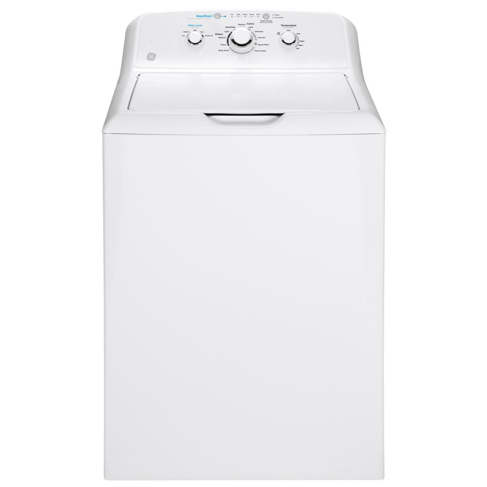 hight resolution of ge 4 2 cu ft white top load washing machine with stainless steel basket