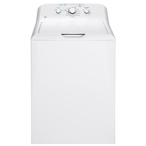 small resolution of ge 4 2 cu ft white top load washing machine with stainless steel basket