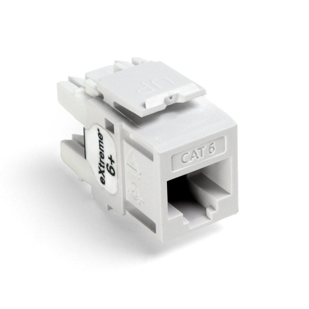 medium resolution of leviton quickport extreme cat 6 connector with t568a b wiring white