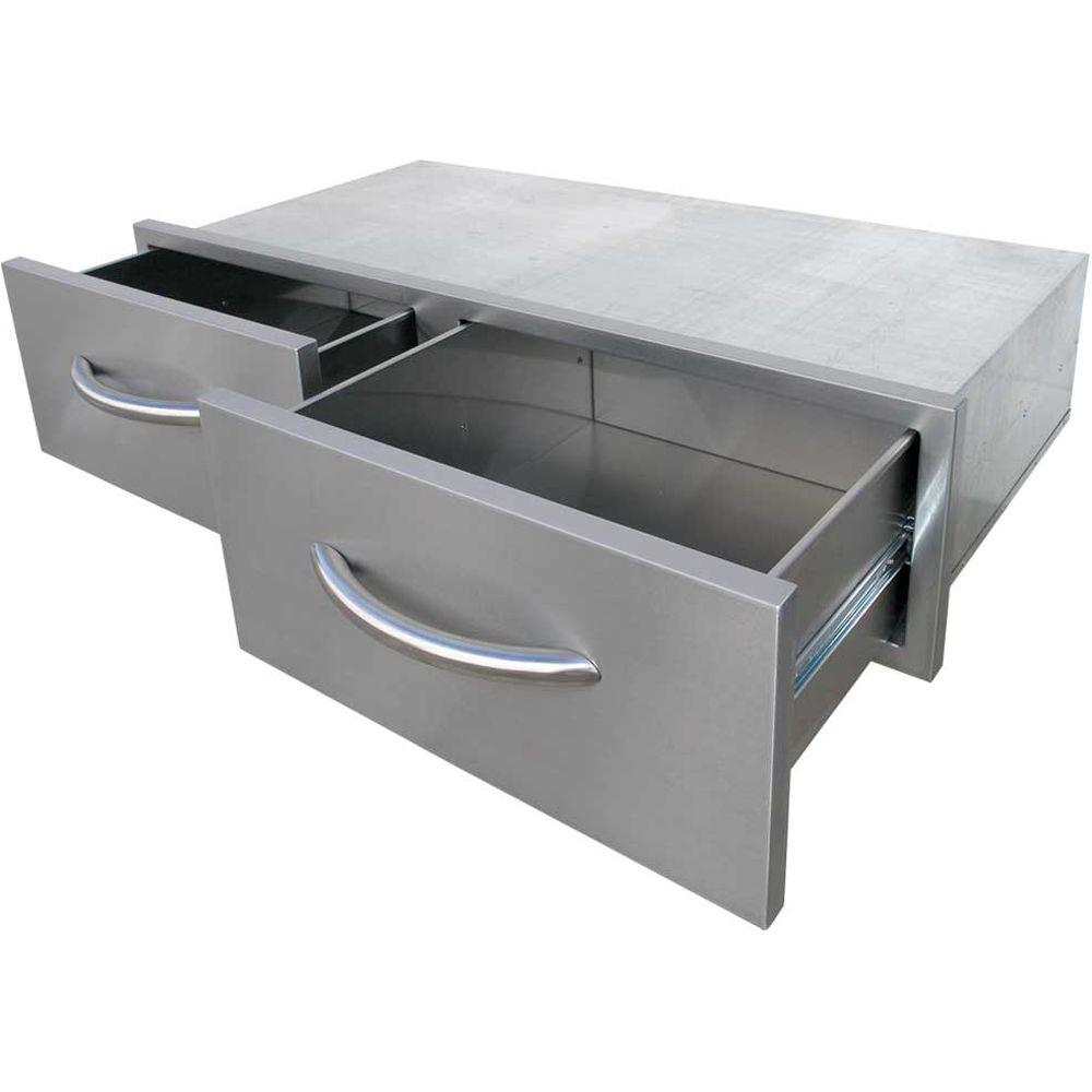 Cal Flame 3925 in Wide Outdoor Kitchen Stainless Steel 2
