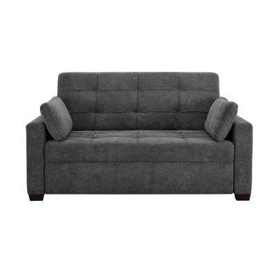 serta bonded leather convertible sofa how to make table legs furniture the home depot harrington grey queen