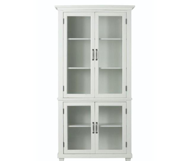 Home Decorators Collection Martin Ivory Glass Door Bookcase 2528700310 The Home Depot