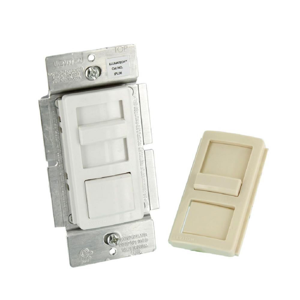 medium resolution of illumatech slide dimmer for 150 watt dimmable led cfl 600 watt incandescent halogen white w color change kit included