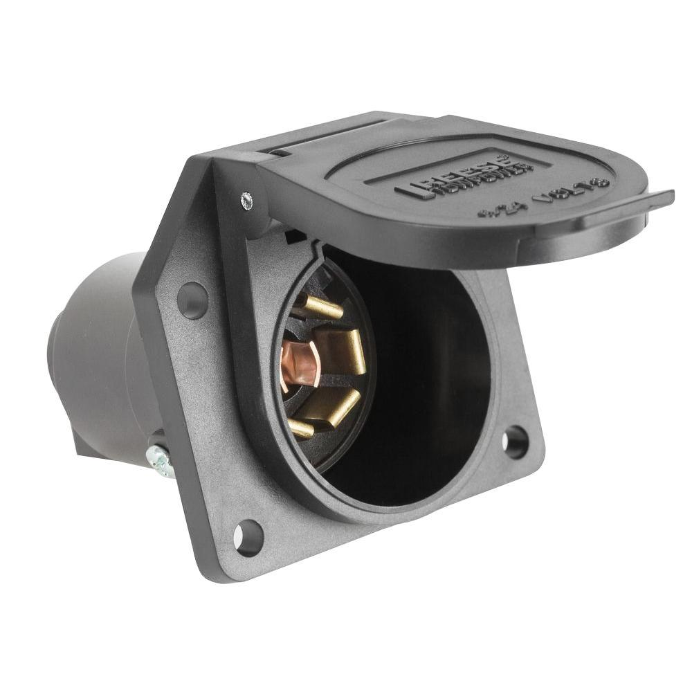 hight resolution of reese towpower 7 way plastic vehicle end connector