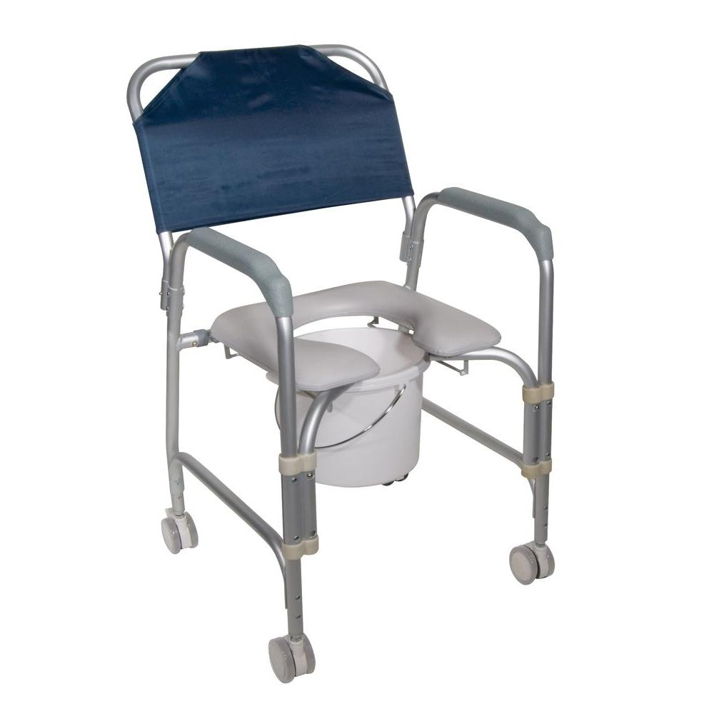 Bedside Commode Chair Drive Lightweight Portable Shower Chair Commode With Casters