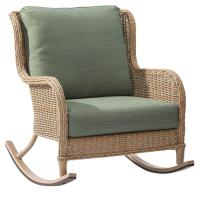 Hampton Bay Lemon Grove Wicker Outdoor Rocking Chair with ...