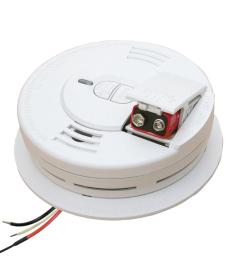 hardwire smoke detector with battery backup ionization sensor and 2 button test hush [ 1000 x 1000 Pixel ]