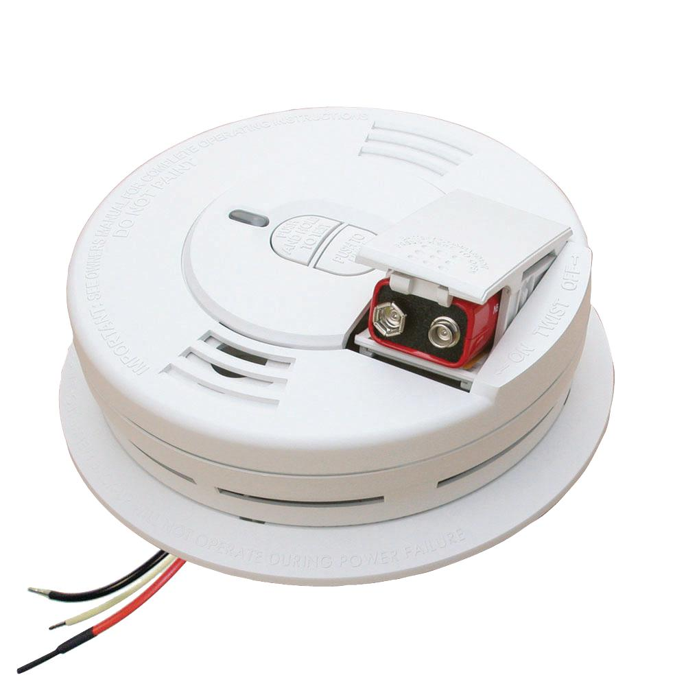 medium resolution of hardwire smoke detector with battery backup ionization sensor and 2 button test hush