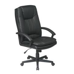 Black Leather Desk Chairs Wooden Outdoor Rocking Work Smart Eco Executive Office Chair Ec22070 Ec3