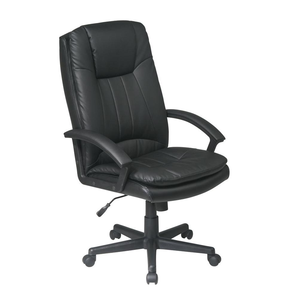 Work Chair Black Eco Leather Executive Office Chair