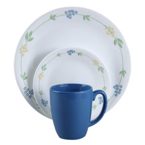 Corelle Livingware Secret Garden 16-piece Vitrelle Dinnerware Set-1060011 - Home Depot