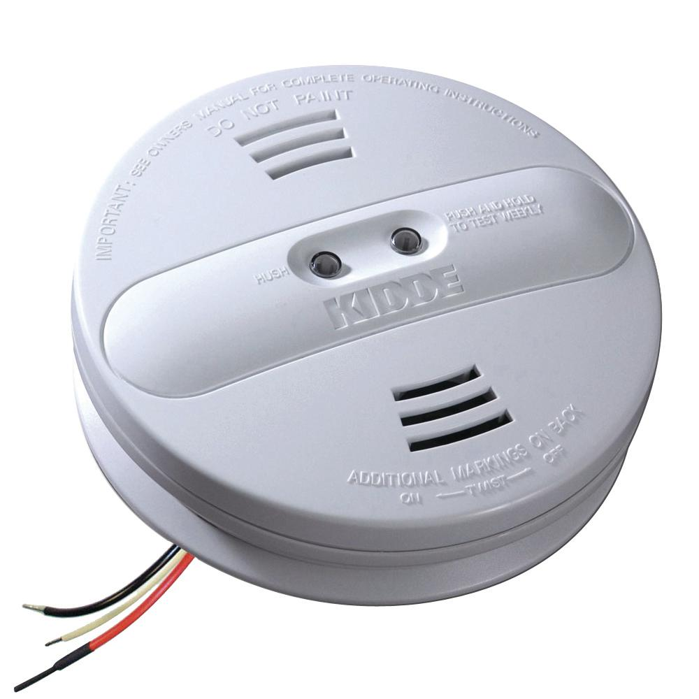 medium resolution of kidde hardwire smoke detector with 9v battery backup and ionization photoelectric dual sensors