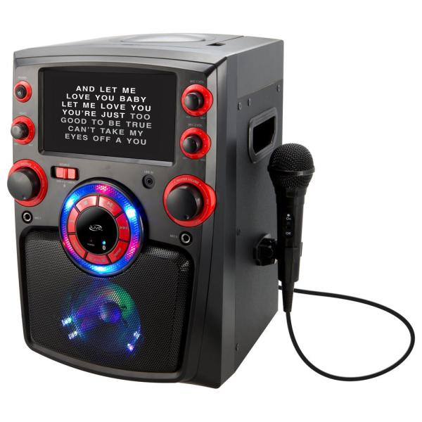 Ilive Bluetooth Karaoke Machine With 7 In. Tft Monitor And Led Light Show-ijmb587b - Home Depot