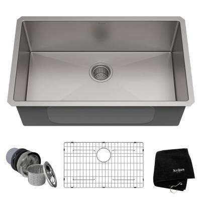 under mount kitchen sink cabinets utah undermount sinks the home depot 16 gauge single bowl stainless steel