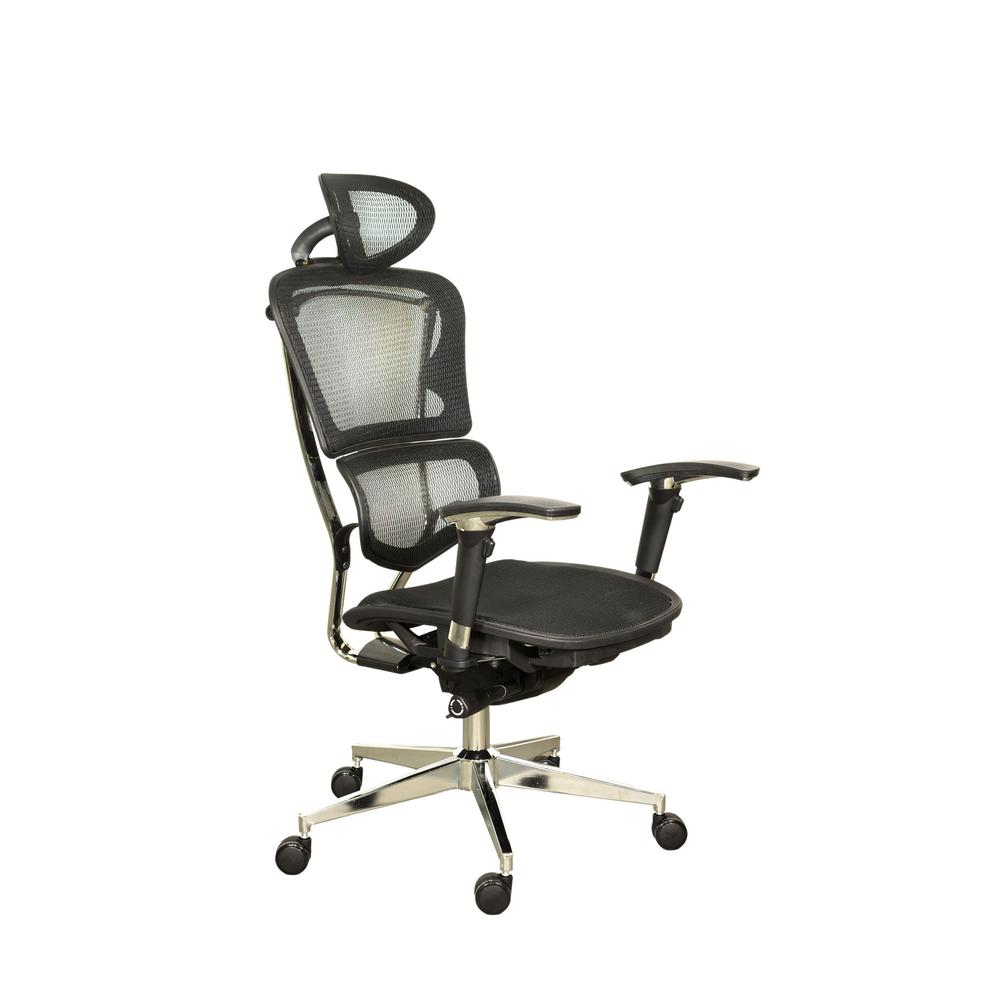 Office Chair Posture Ergomax Office Ergonomic Black Adjustable Executive Office Swivel Chair With High Back Headrest Seat Slider Mesh And Aluminum Base