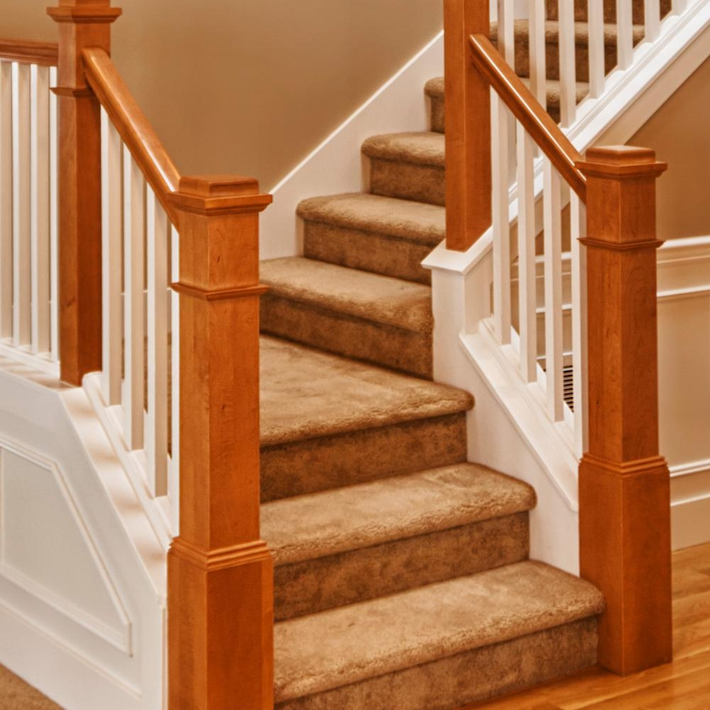 Stair Parts 6010 1 Ft Unfinished Poplar Plowed Stair Handrail   Handrail Wood Home Depot   Balusters   Pressure Treated Lumber   Deck Railing   Staircase   Stair Railings