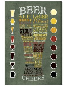 Beer chart by oliver gal framed canvas wall also the artist co rh homedepot