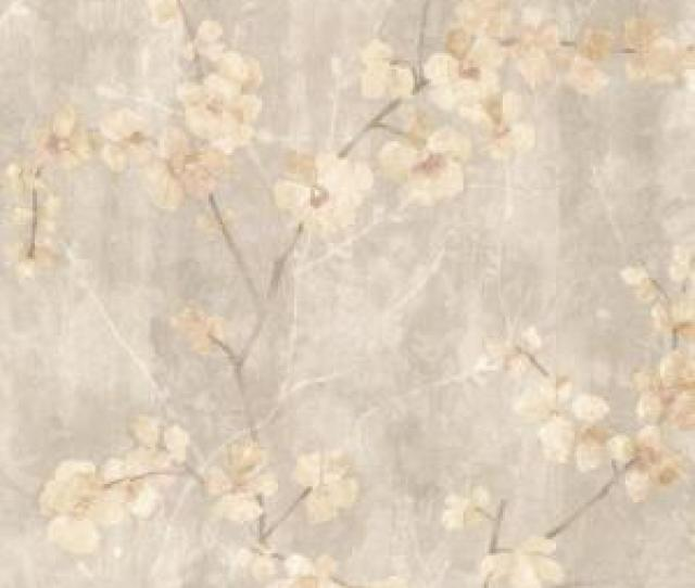 Chapman Beige Cherry Blossom Trail Wallpaper