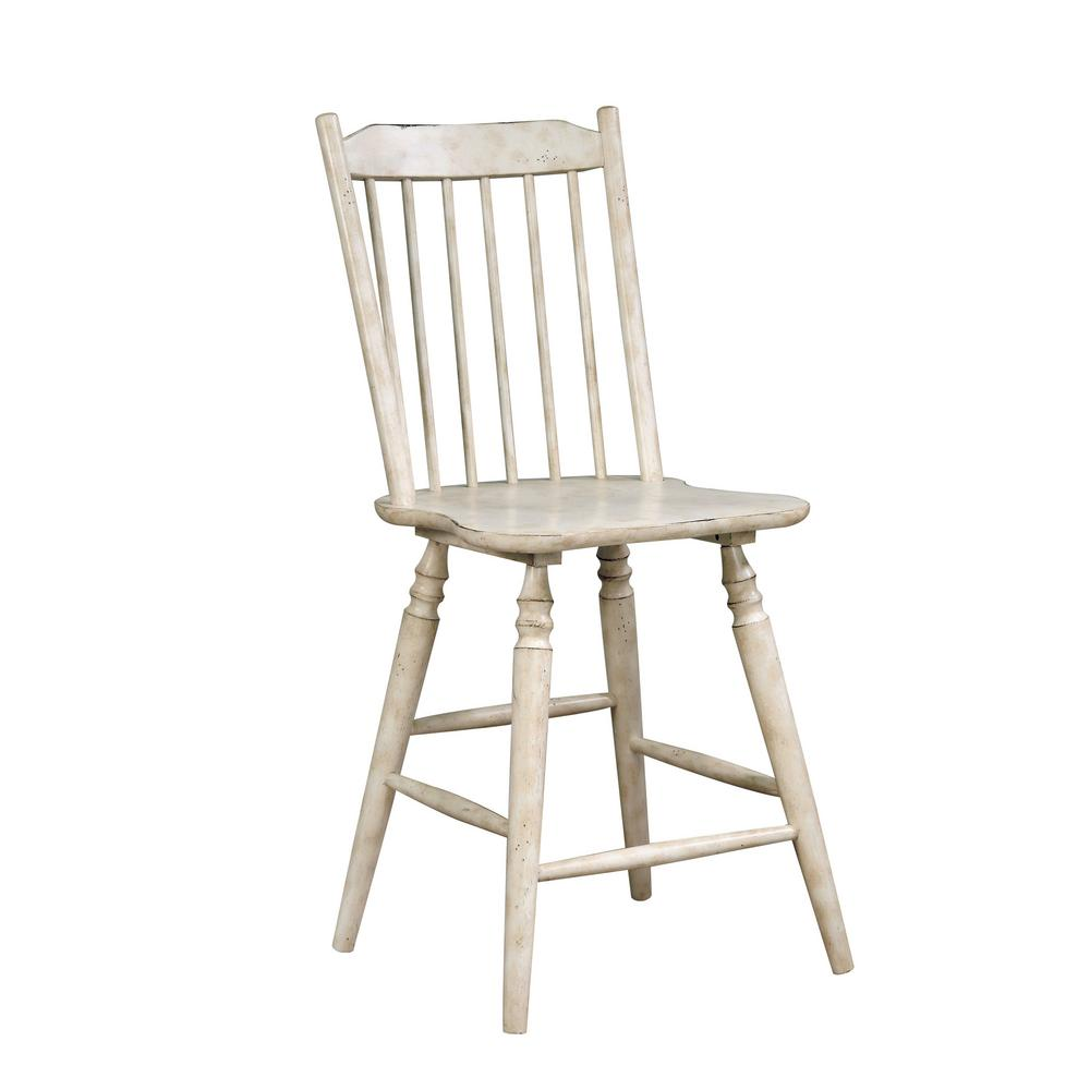 counter height chairs with back black chiavari furniture of america dessie antique white wood slat chair set 2 idf 3754pc the home depot