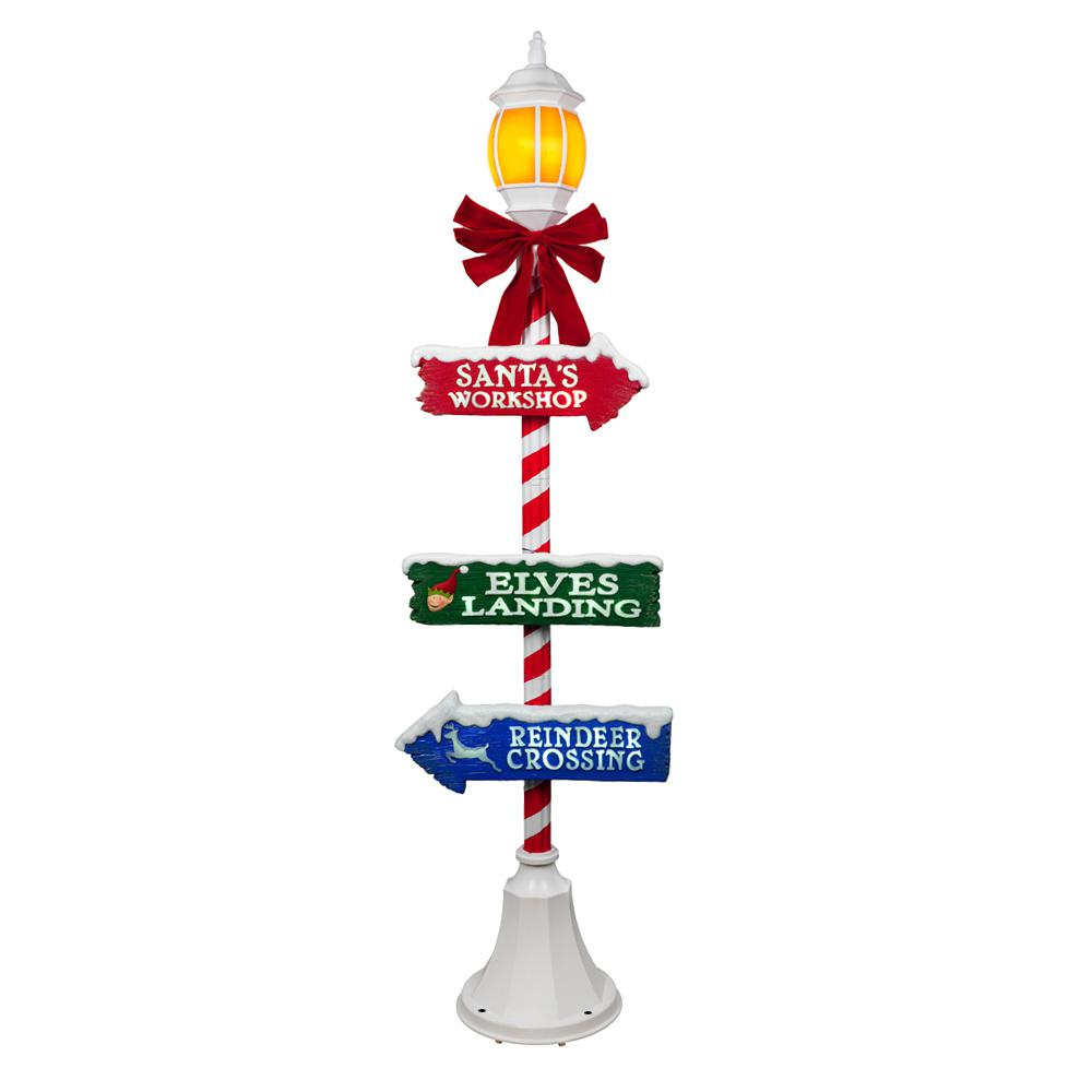 Home Accents Holiday 72 In Holiday Lamppost With LED