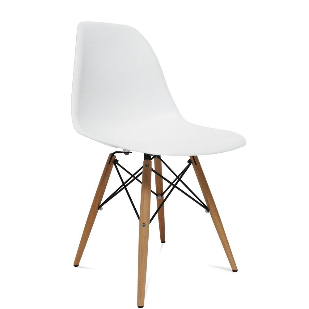 White Dining Chairs White Wood Leg Side Dining Chair