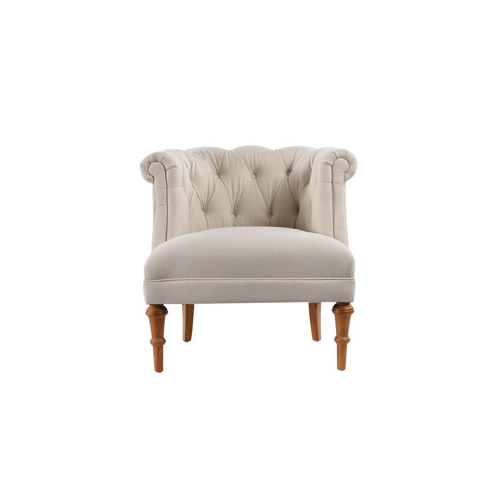 tufted accent chairs feminine desk chair jennifer taylor katherine sky neutral 2483 970