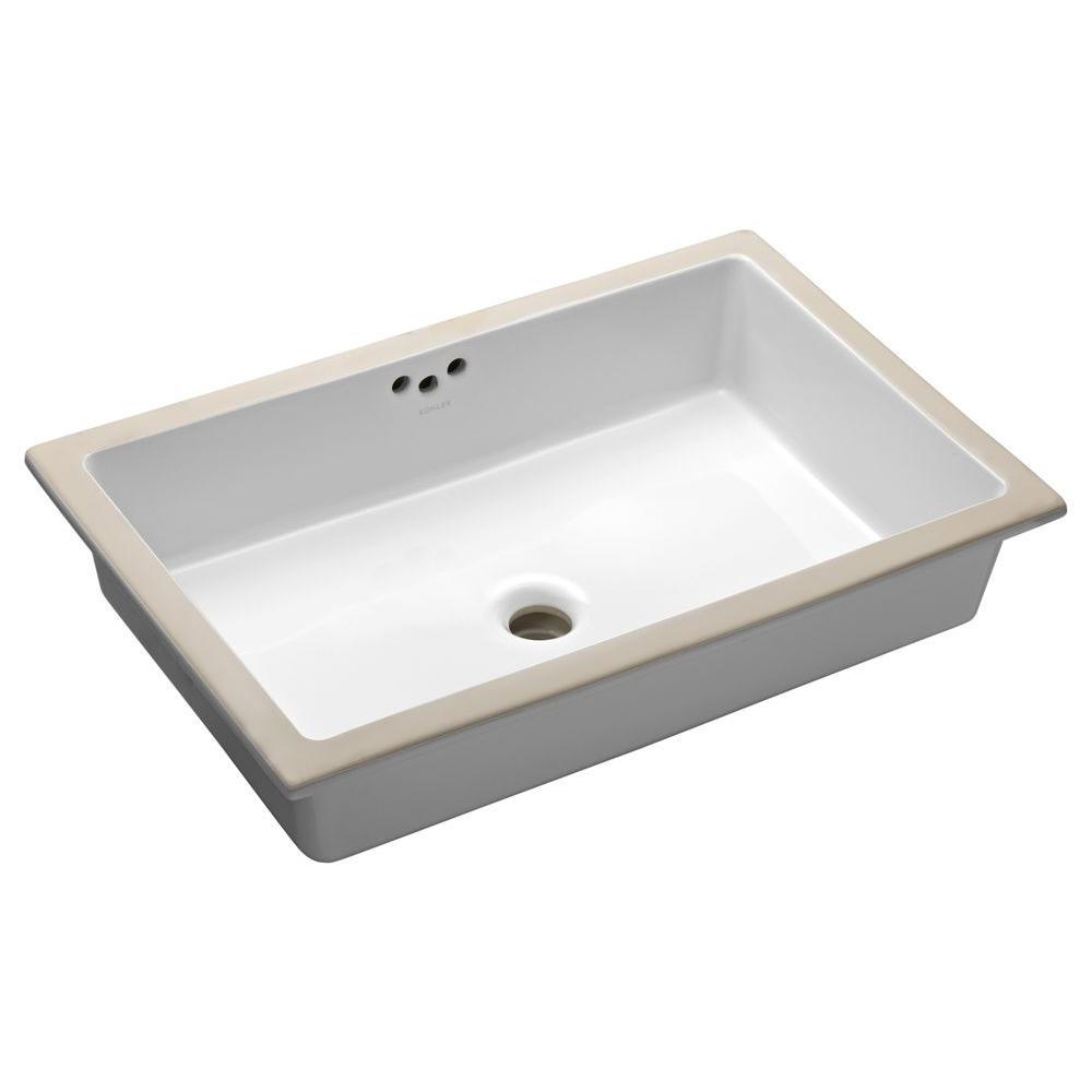 KOHLER Kathryn Vitreous China Undermount Bathroom Sink in