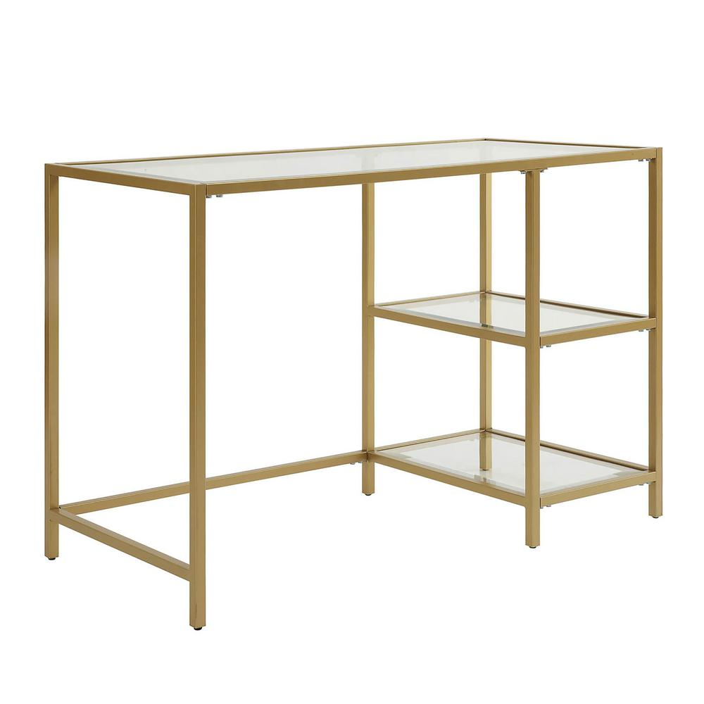 Carolina Cottage Marcello Gold Writing Desk with Shelves